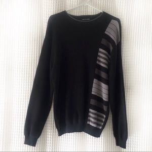 """Black and grey vintage 90s """"dad"""" sweater"""